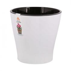 """Горшок цветочный для орхидеи """"Лея"""", двойной, с автополивом, 2,2 литра (белый) Alternativa"""
