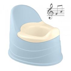 Горшок детский Пластишка музыкальный, светло-голубой