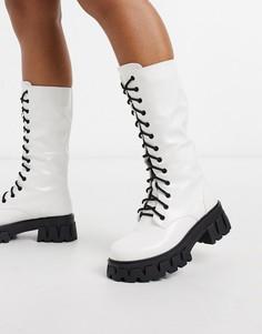 Белые ботинки на массивной подошве со шнуровкой Koi Footwear-Белый