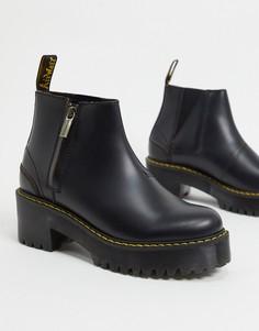 Черные ботинки челси на каблукес молниямиDr Martens-Черный