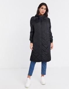 Черное стеганое пальто Selected-Черный