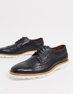 Черныекожаные туфли со шнуровкойDune-Черный