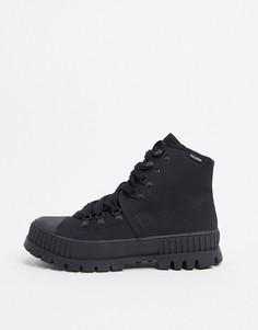 Черные высокие ботинки на массивной подошвеPalladium-Черный