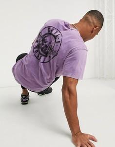 Фиолетовая футболка с принтом Guns n Roses Bershka-Фиолетовый
