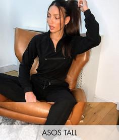 Черный спортивный костюм ASOS DESIGN Tall