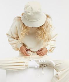 Спортивный костюм из свитшота и oversized-джоггеров кремового цвета ASOS DESIGN-Кремовый