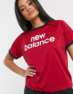 Краснаякороткая футболкас логотипом New Balance Running-Красный