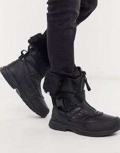 Водонепроницаемые кожаные ботинки с подкладкой UGG-Черный