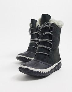 Черные водонепроницаемые ботинки Sorel-Черный