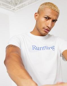 Белая футболка с логотипом Nike Running essential-Белый
