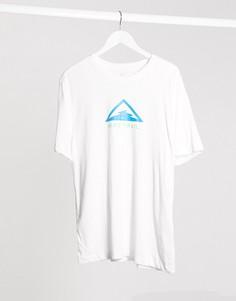 Белая футболка с логотипом Nike Running Trail-Белый