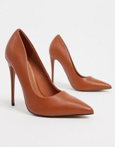Светло-коричневые туфли-лодочки на каблуке-шпилькеASOS DESIGN-Светло-коричневый