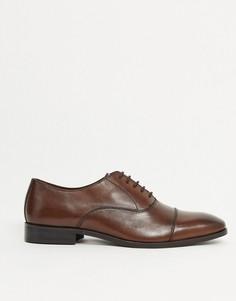 Коричневые кожаные туфли на шнуровке Dune-Коричневый