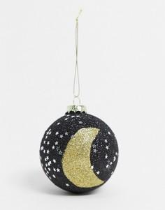 Новогоднее елочное украшение с принтом Луны и звезд Sass & Belle-Мульти
