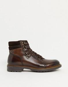 Коричневые кожаныепоходные ботинки Base London-Коричневый