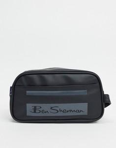 Черный/серый несессер в полоску Ben Sherman