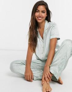 Пижама светло-бирюзового цвета с рубашкой Vero Moda-Зеленый