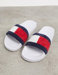 Белые шлепанцыTommy Jeans-Белый