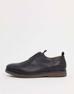 Черные кожаные туфли на шнуровке H By Hudson-Черный