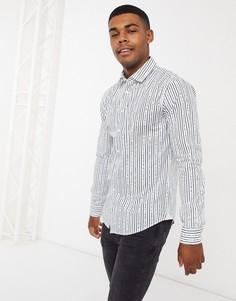 Рубашка с длинными рукавами BOSS-Белый