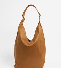 Коричневая сумка-тоут из искусственной замши Glamorous-Коричневый