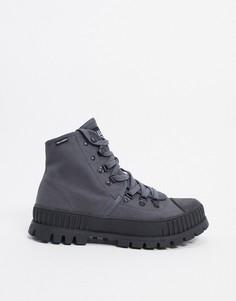 Серыевысокие ботинкина массивной подошве Palladium-Серый
