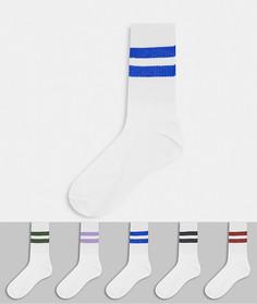 Комплект из 5 пар носков в рубчик New Look-Мульти