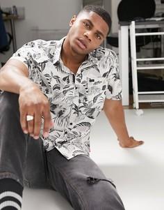 Разноцветная рубашка с короткими рукавами Globe Stay Tuned-Мульти