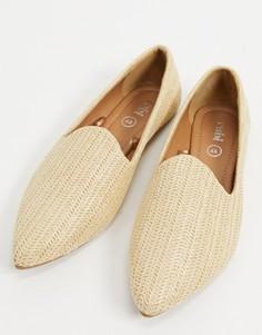 Туфли на плоской подошве песочного цветаRubi-Светло-бежевый