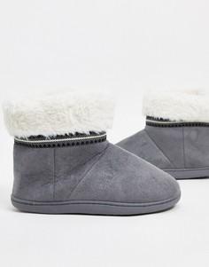 Серые ботинки-слиперы Totes Isotoner-Серый