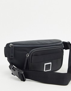 Черная сумка-кошелек на пояс с большим логотипом BOSS-Черный