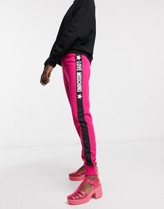 Розовые узкие джоггеры с логотипом Love Moschino-Розовый