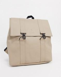 Бежевый рюкзак Rains MSN