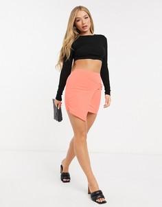 Оранжевая асимметричная юбка с пряжкой I Saw It First-Оранжевый