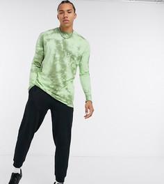 Свободный зеленый лонгслив с принтом тай-дай ASOS DESIGN Tall