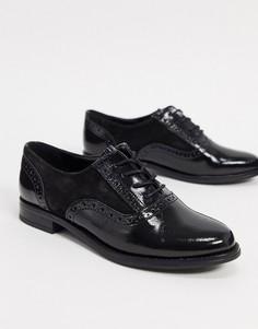 Черные броги на шнуровке Aldo-Черный