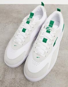 Белые кожаные кроссовки Puma Oslo Pro-Белый