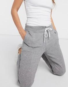 Темные винтажные джоггеры с манжетами Polo Ralph Lauren-Серый