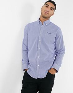Рубашка в клетку с длинными рукавами Ben Sherman-Синий