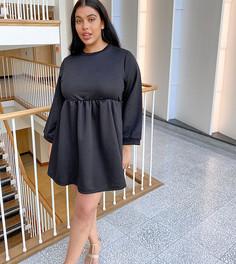 Свободное платье-свитшот Rokoko-Черный