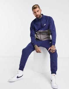 Темно-синий спортивный костюм Nike Club