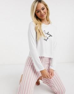 Розовая пижама в полоску InThe Style x Billie Faiers-Мульти