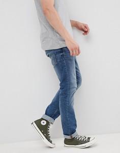 Светлые синие джинсы слим Esprit-Синий