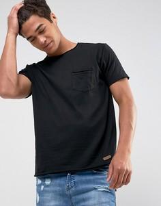 Базовая футболка с необработанными краями Brave Soul-Черный