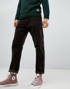 Вельветовые выбеленные брюки табачного цвета Carhartt WIP Newel-Коричневый