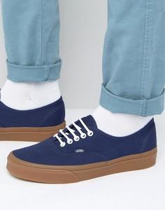 Кроссовки на каучуковой подошве Vans Authentic-Синий