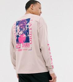 Oversize-футболка с длинным рукавом и цветочным принтом ASOS DESIGN Tall-Белый