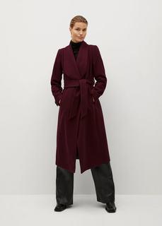 Двубортное пальто из шерсти - Marc-i Mango