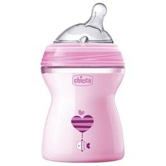 Бутылочка Chicco Natural Feeling с силиконовой соской, полипропилен, с 0 мес, 250 мл