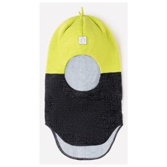 Шапка-шлем crockid размер 46-48, лимон/серый